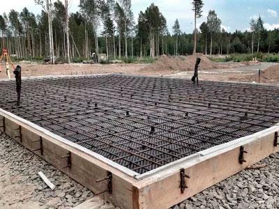 строим плитный фундамент под ключ